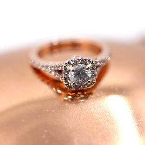 1.05 Carat Forever Halo Diamond Engagement Ring